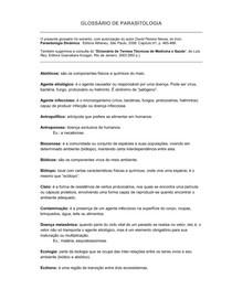 GLOSSÁRIO DE PARASITOLOGIA