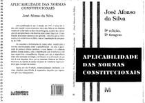 SILVA, José Afonso da - Aplicabilidade das Normas Constitucionais