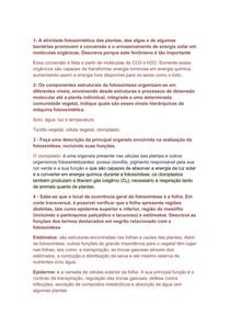 Exercício Fisiologia vegetal (respondido)