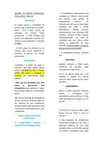 DIREITO PROCESSUAL CIVIL 1 - JURISDIÇÃO - COMPETÊNCIA