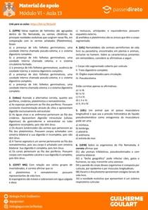 Módulo 6 - aula 13 - Nematelmintos