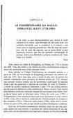 CAPITULO 19 - AS POSSIBILIDADES DA RAZAO - IMMANUEL KANT (1724-1804)