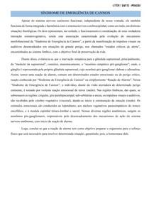 SÍNDROME DE EMERGÊNCIA DE CANNON