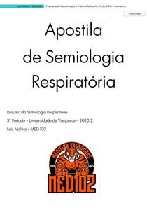Apostila de Semiologia Respiratória
