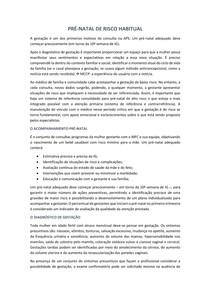 PRÉ-NATAL DE RISCO HABITUAL