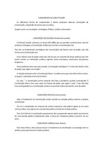 Resumo de  Constituição I