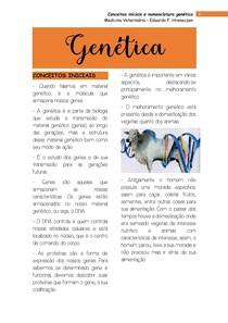 Conceitos iniciais e nomenclatura genética