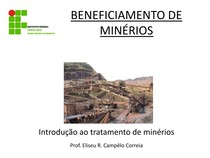 BENEFICIAMENTO DE MINERIOS Introducao ao tratamento 1.1pdf