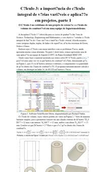 Cálculo 3: a importância do cálculo integral de várias variáveis e aplicação em projetos, parte 1