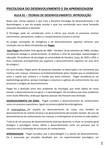 PSICOLOGIA DO DESENVIOLVIMENTO E DA APRENDIZAGEM CONTEUDO ON LINE AULA 1 A 10  OK