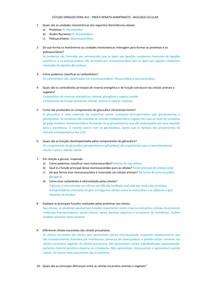 Revisão - Biologia Celular AV2
