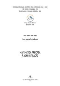 Apostila UNIJUÍ - Matemática aplicada à administração