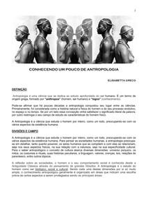 CONHECENDO UM POUCO DE ANTROPOLOGIA - Cultura - Sociedade - O Homem