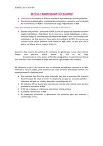 Retículo Endoplasmático Rugoso RESUMO