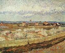 Vincent Willem van Gogh-La-Crau com pêssego-Trees-em-Blossom