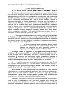 """Análise do documentário """"Holocausto Brasileiro"""""""