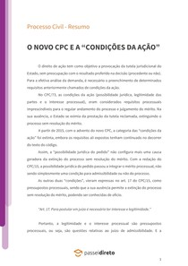 """O novo CPC e as """"condições da ação"""" - Resumo"""