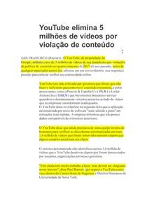 YouTube elimina 5 milhões de vídeos por violação de conteúdo