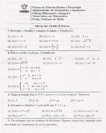 Lista 1 - funções
