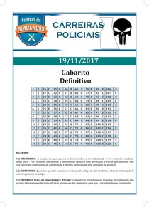 AlfaCon simulados carreiras policiais simulado 19 11 2017 gabarito definitivo