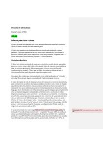 Resumo Aula 1 Citricultura (História da Citricultura Brasileira)