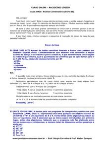 Aula 11- Analise Combinatoria Parte II