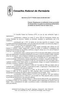 Resolução 578 de 2013