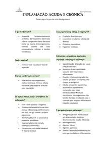 Questões de patologia sobre inflamação Aguda e Crônica