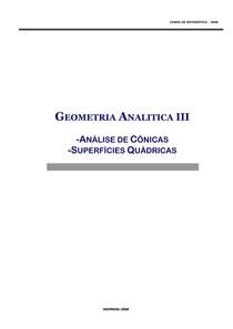 Geometria Analitica III - C-nicas