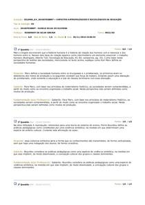 AV ASPECTOS ANTROPOLÓGICOS E SOCIOLÓGICOS DA EDUCAÇÃO