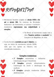 ESCOLA LITERÁRIA-ROMANTISMO