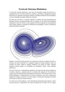 Teoria de Sistemas Dinâmicos