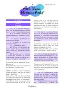 Prática Jurídica IV - Pedido, Citações, Intimações e Revelia