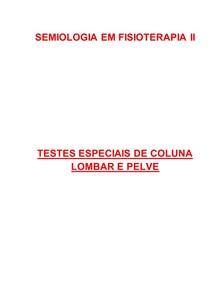 Testes especiais de coluna lombar e pelve em Fisioterapia