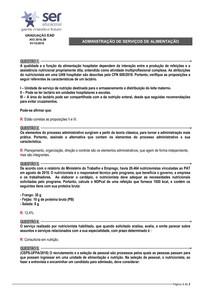 ADMINISTRAÇÃO DE SERVIÇOS DE ALIMENTAÇÃO - BB - A pdf prova 2