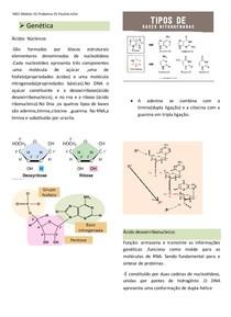 ácido núcleico,DNA ,RNA e coneceitos básicos genética