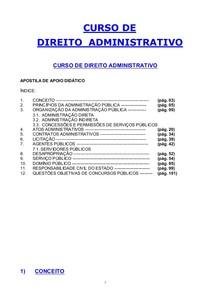 Direito Administrativo - Curso