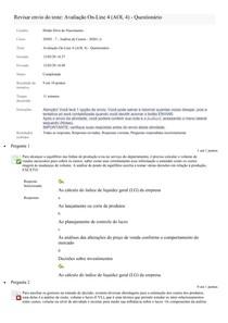 Avaliação On-Line 4 (AOL 4)-Análise de Custo