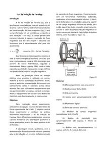 Relatório: Lei de Indução de Faraday