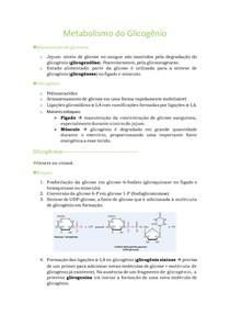 6. Metabolismo do Glicogênio