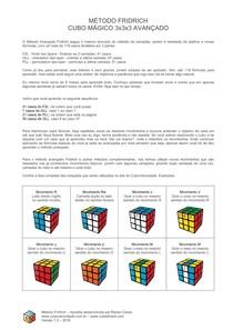 apostila metodo fridrich cubo magico 3x3x3 avancado