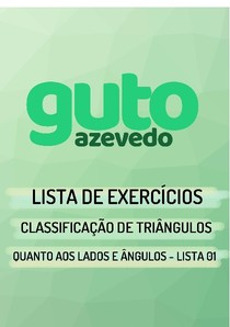 Lista de Exercícios | Classificação de triângulos quanto aos lados e quanto aos ângulos | Lista 01