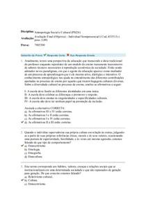 antropologia avaliação III objetiva