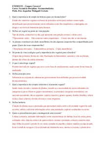 Estudo Dirigido Farmacobotanica - P1