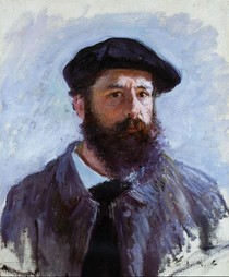 Self Portrait With A Beret-Claude Monet