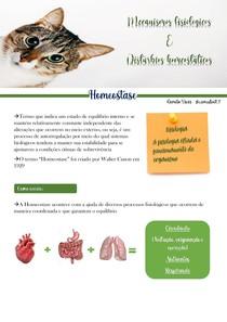 Mecanismos fisiológicos e disturbios homeostáticos