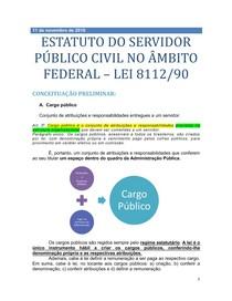 7 - ESTATUTO DOS SERVIDORES PÚBLICOS FEDERAIS (8.112)