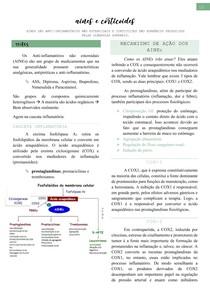 Aines e Corticoides (cascata inflamatória, COX, mecanismo de ação, classificação, efeitos colaterais e uso clínico) - Farmacologia