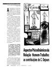 TEXTO 9 - MENDES, Ana Magnólia Bezerra. Aspectos psicodinâmicos da relação homem-trabalho as contribuições de C. Dejours