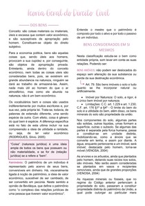 DIREITO CIVIL - Dos Bens